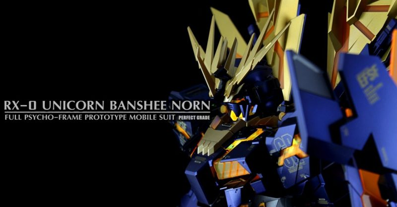 RX-0 Unicorn Gundam Banshee Norn Perfect Grade Full Psycho Fram Prototype Mobile Suit